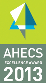 Logo for NCI's AHECS Award for Excellence 2013