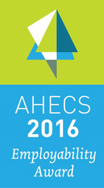 Logo for NCI's AHECS Award for Employability 2016