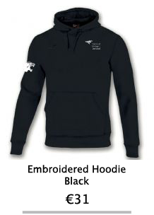 Embroidered Black Hoodie - NCI Shop