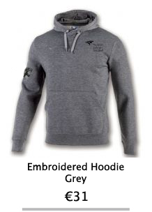 Embroidered Grey Hoodie - NCI Shop